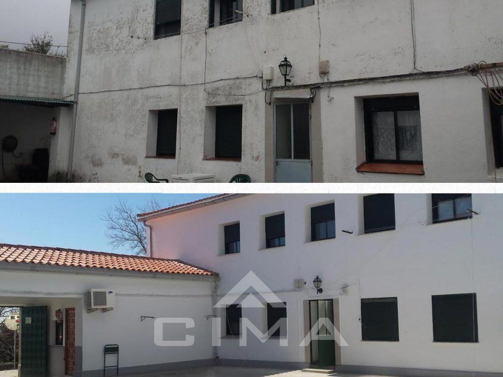 Reparación de la casa cuartel en Villanueva de la Vera