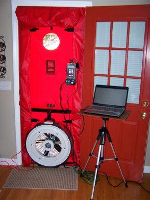 Ventilador del sistema Blower Door